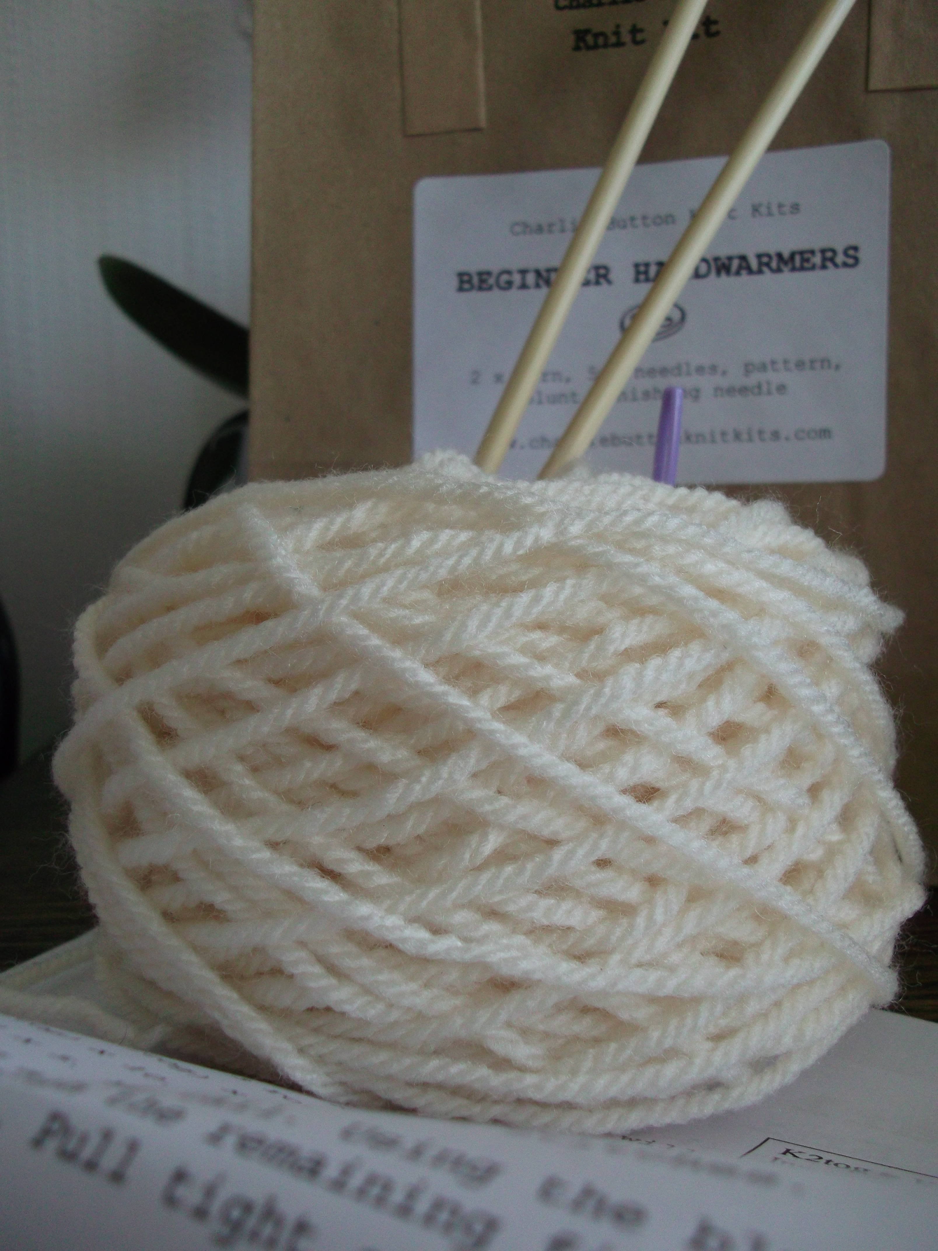 Knitting Kits For Beginners Uk : Beginner knitting kit button collar charlie