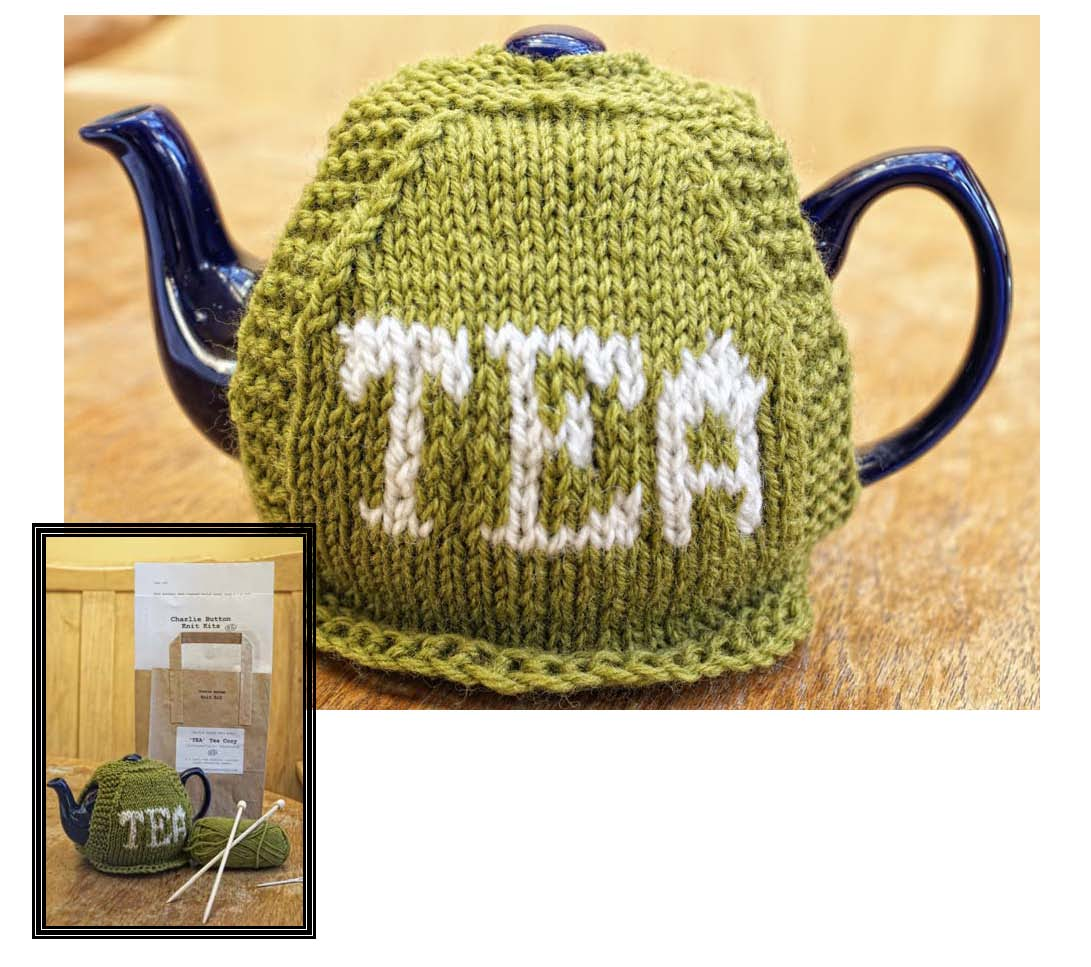 Intermediate Knitting Kit - TEA Tea Cosy - Charlie Button Knit Kits